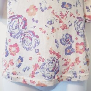 BDG Tops - BDG Cream Floral 3/4 Sleeve T-Shirt Size XS Top